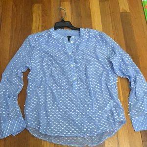 J. Crew silk sheer blouse